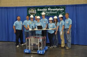 FIRST Robotics Team photo at competition