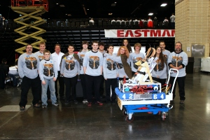FIRST Robotics Competition Team Cherokke HS, at the competition.