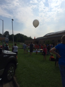 A high altitude balloon launch was part of the day. The travel path was tracked and followed during the faire.