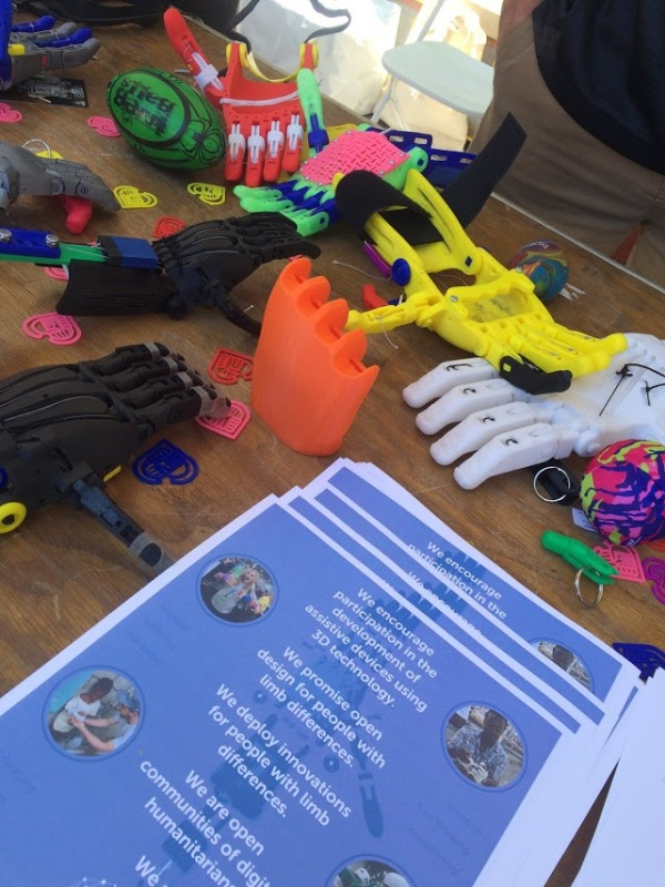 3D printed hands for children are colorful.